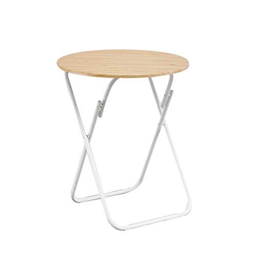 C-J-X TABLE C-J-Xin Multi-Funktions-Couchtisch, Faltbare kleinen runden Tisch Haushalts Restaurant Tragbarer Esstisch Eisen Flower Stand Platz sparen Platz Sparen (Color : C, Size : 60 * 71CM)
