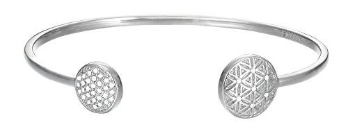 Esprit Damen-Armreif JW50220 Messing rhodiniert Zirkonia weiß Rundschliff 5.8 cm - ESBA01345A580