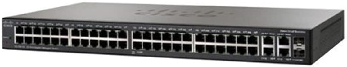 Switch Small Business 300 Series Managed SG300-52 - 50 puertos 10/100/1000 Mbps + 2 puertos SFP Gigabit + Cable Ethernet RJ45 azul (Categoría 5) - 3 m