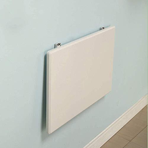 Mesa plegable de pared para colgar en la pared, de madera maciza, mesa de comedor, mesa de doble soporte (tamaño: 50 x 30) estantes de almacenamiento (tamaño: 50 x 30)