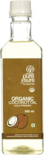 Pure & Sure Organic Coconut Oil, 500ml