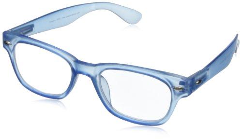 Peepers by PeeperSpecs Unisex-Adult Wayfarer Peepers Rainbow Bright Retro Reading Glasses,Blue,2.5, 45 mm