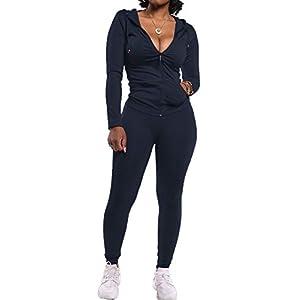PRETTYGARDEN Women's Two Piece Tracksuit Set Long Sleeve Zipper Hoodie Jacket with Sweatpants Sweatsuit Jogger Workout…
