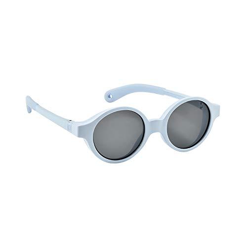 Béaba - Gafas de sol para bebé de 9 a 24 meses, protección 100% UV – CAT 3, protección lateral, confort óptimo, ramas ajustables 360 ° Bleu Perle Talla:9-24 mois