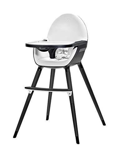 Kinderkracht hoge stoel baby FINI kinderstoel babystoel combistoel kinderstoel 2in1 vanaf 6 maanden tot 5 jaar lichte constructie volledig zwart