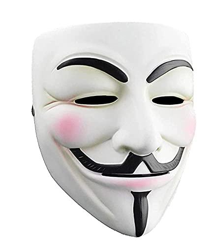 V for Vendetta Mask, Anonymous Guy Fawkes Halloween Mask - Hacker Mask