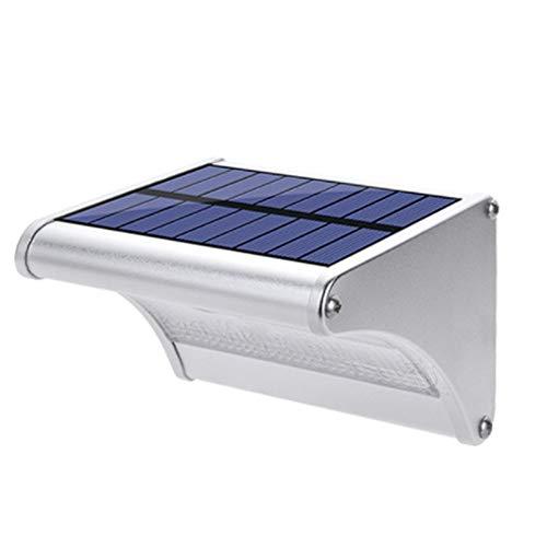 Luce Solare LED Esterno, Luci Di Sicurezza Impermeabili A 3 Modalità Ad Energia Solare, Sensore di Movimento Senza Fili PIR a 150 Gradi Per Passaggio, Giardino, Cortile, Ponte - Luce Bianca,24LED