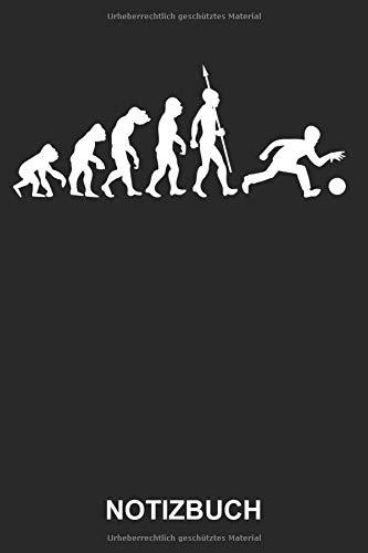 Notizbuch: Kegeln Bowling Sport Bowlingkugel Kegelverein Evolution Lustig Witzig | Notizbuch, Tagebuch, Notizheft, Schreibheft | ca. A5 mit Linien | 120 Seiten liniert | Softcover | weißes Papier
