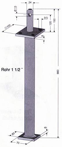 HBL 405762 Pfostenträger mit Dorn auf Standfuß zum Einbetonieren