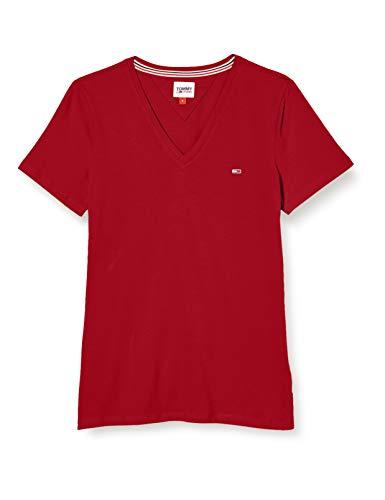 Tommy Hilfiger TJW Slim Jersey VN Shortsleeve Camiseta, Rojo