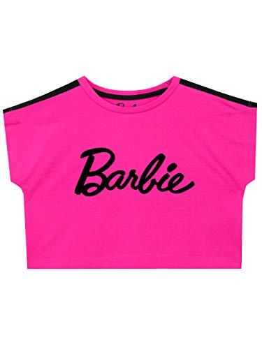 Barbie Ritaglia Maglietta per Ragazze Rosa 8-9 Anni