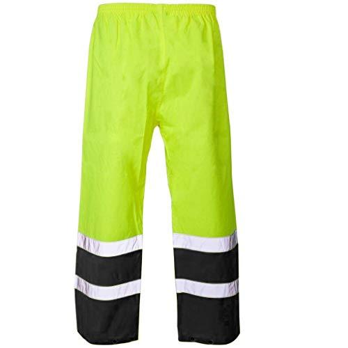 ZZBO Cargo Hose Männer Bundhose Arbeitshose Herren Schutzhose Arbeitskleidung Bequem Lockere Stoffhose mit Reflektor-Prints Fluoreszenz