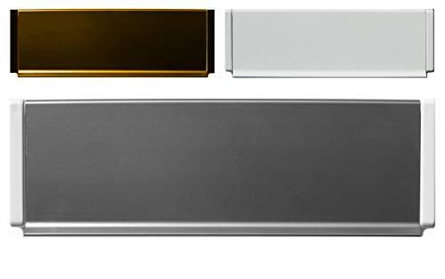 Aluminium-Außen Briefeinwurf=270 x 78 mm-Briefklappe-Briefkasten-Briefschlitz-TOP (270 x 78 mm, Alu. weiß Kanten weiß)