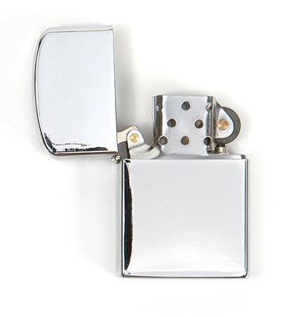 MFH Sturmfeuerzeug Feuerzeug Taschenfeuerzeug Benzinfeuerzeug Metallfeuerzeug (Chrom Poliert)