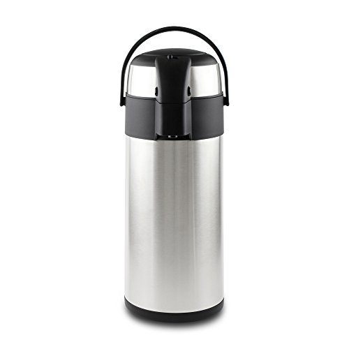 Pioneer - Termo de Acero Inoxidable con dispensador de té y café, Acero Inoxidable, Satin Finish, 5 litros