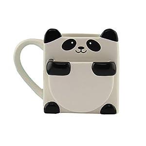 Panda Hug Ceramic Coffee Mug - Includes Cookie or Biscuit Pocket