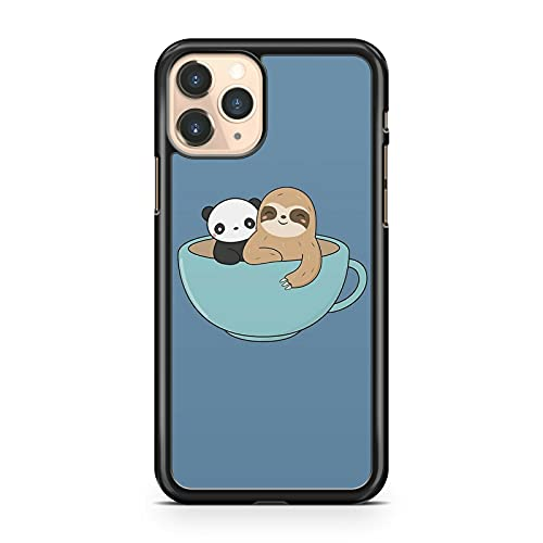 Cuddly Sloth - Carcasa para iPhone 5S, diseño de oso panda sentado en la taza de té