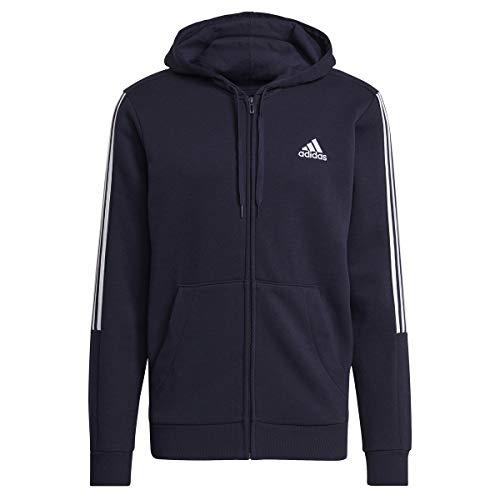 adidas M Cut 3S FZ HD Sweatshirt, Legend Ink/White, Mens