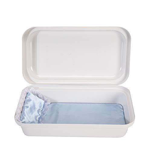 Pet Memory Shop Classic Pet Casket - Choose Color - Burial Casket (Small, White/Blue)