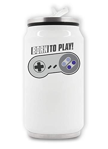 Geboren om Joystick Grappige Gamer's Artwork Thermische drank kan spelen