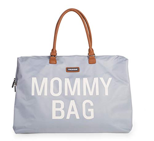 MOMMY BAG Big Grey - Functional Large Baby Diaper Travel Bag for Baby Care.