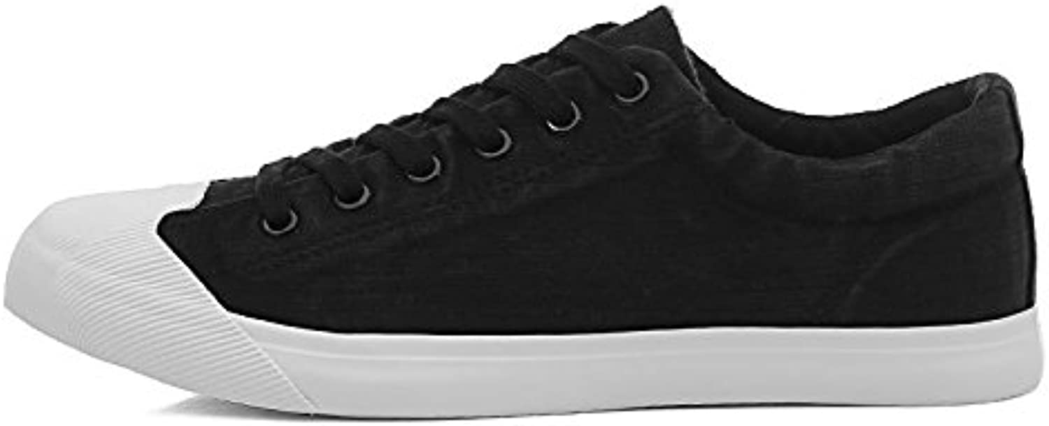 Breathable casual shoes casual shoes trend canvas shoes men students canvas shoes,black,Thirty-nine