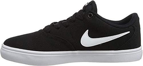 Nike Damen WMNS Sb Check Solar CNVS Skateboardschuhe, Mehrfarbig (Black/White-Pure Platinum 010), 37.5 EU