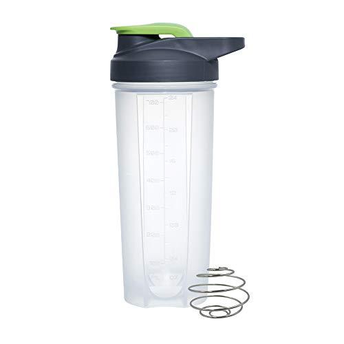 Plastic Protein Shaker met RVS Mixing Ball Wei Gym Cup Vortex Shake Bottle Mixer Groen