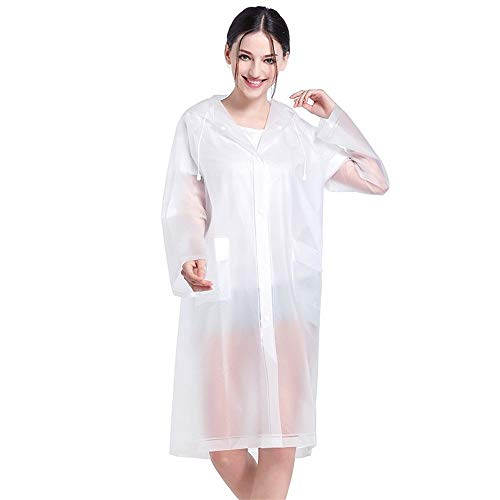GF-outdoor products Moda Ciclismo Impermeable alpinista Impermeable Impermeable de una Pieza Impermeable Poncho al Aire Libre (Color : White, Size : One Size)