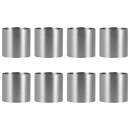 HEMOTON 8 Stücke Edelstahl Runde Mousse Cutter Kuchenform Dessert Ring Backform Backwerkzeug Runde Kuchen Backen Metall