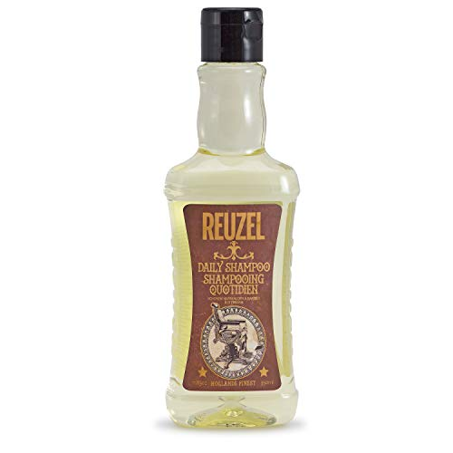 Reuzel - Daily Shampoo For Men - Cleanse & Degrease Hair w/o Stripping - Moisturizes/Cools- Strengthens/Adds Shine - 11.83 oz / 350 ml