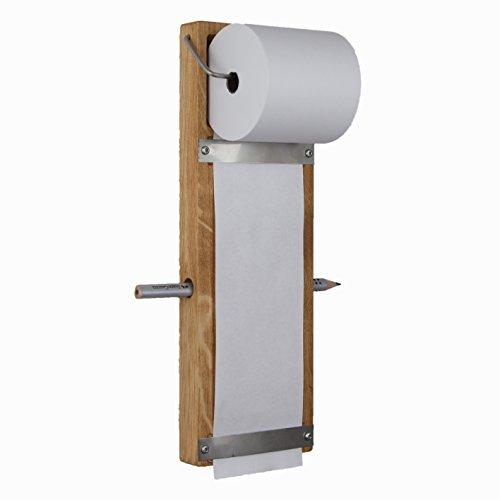 Rasch Design Notizrollenhalter Notizzettel Spender Wandmontage   Massivholz (Eiche)