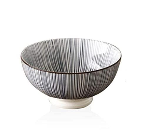 MRTYU-UY Plato de Porcelana, Cuenco de cerámica de Estilo japonés para el hogar, Cuenco de Ensalada de Frutas Simple Creativo de 6 Pulgadas, Cuenco de Fruta para Sopa de Ensalada Ramen