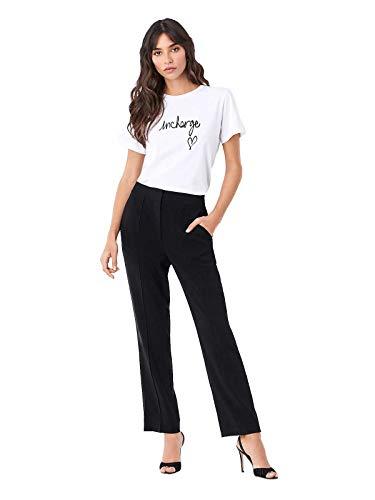 Diane von Furstenberg Women's InCharge Cotton T-Shirt, White, XXS