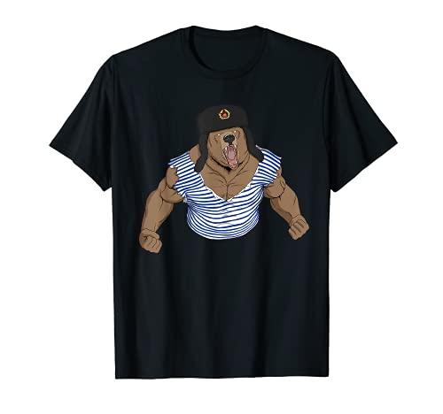 Russia T-Shirt Russland UdSSR russischer Bär Geschenk