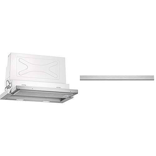 Neff | Dunstabzugshaube Flachschirmhaube D46ED52X0 & Bosch DSZ4655 Zubehör für Dunstabzüge/Griffleiste/Passend für: 60 cm breite Flachschirmhauben/Edelstahl