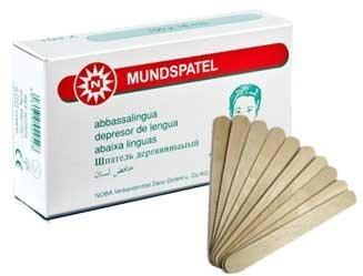 Einmal Mundspatel Holz Holzmundspatel 15cm unsteril 100 Stück Spatel geeignet auch f. Bastler Hobby Original Tiga-Med