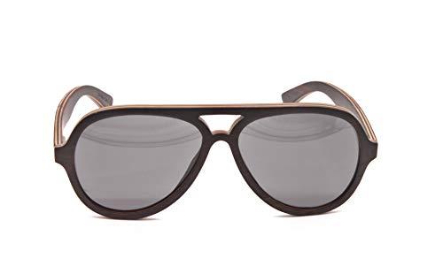Wood Kiwi: Gafas de sol de madera - Polarizadas - UV400 - Unisex - Cosmic Condor