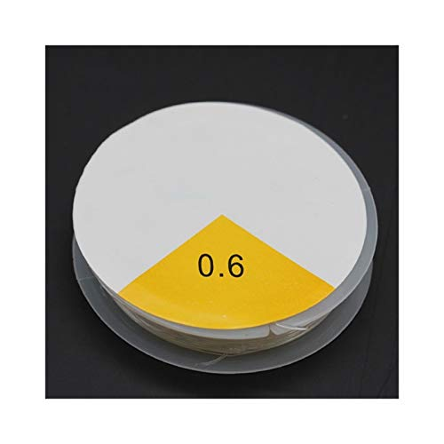 FENCHUN 1Rolls 0.5/0.6/0.7/0.8 / 1mm Clear Nylon Strong Stretch Cable Hilo Beading Elástico Línea Pesca Alambre Joyería (Color : 0.6mm)