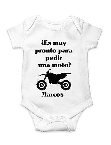 Body bebe personalizado ¿Es muy pronto para pedir una moto? Unisex motorista divertido
