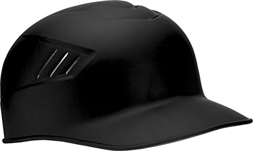 Rawlings Coolflo Matte Style Alpha Sized Base Coach Helmet, Black, Large
