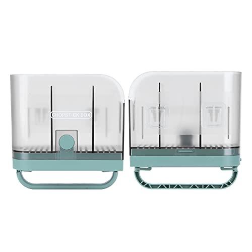 Estante para palillos, soporte para palillos multifuncional, plegable, verde, sin perforaciones, montado en la pared, para almacenamiento en la cocina