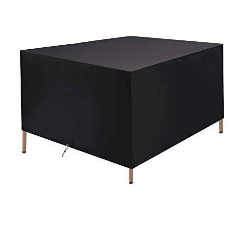 Fundas para Muebles De Jardín Rectangular 150X80X80Cm Fundas para Muebles De Patio Fundas Impermeables para Mesas Al Aire Libre A Prueba De Viento 420D Tela Oxford Funda para Muebles De Ratá