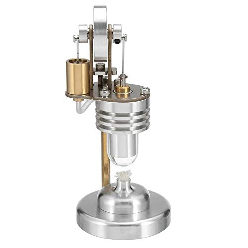 Asffdhley Stirlingmotor Mini-Heißluft-Vertikal-Stirlingmotor Motormodell Elektrizität Generator Wissenschaft Educational Experiment Modell Spielzeug Physik-Experimentierspielzeug