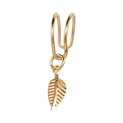 Larancie ear cuff foglia orecchini oro non forati ear clip minimalisti orecchini cartilagine climber ear gioielli per donne e ragazze