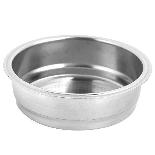 51mm Filterkorb, Edelstahl Wiederverwendbare Kaffeemaschine Filtersiebschale für Zuhause und Cafe