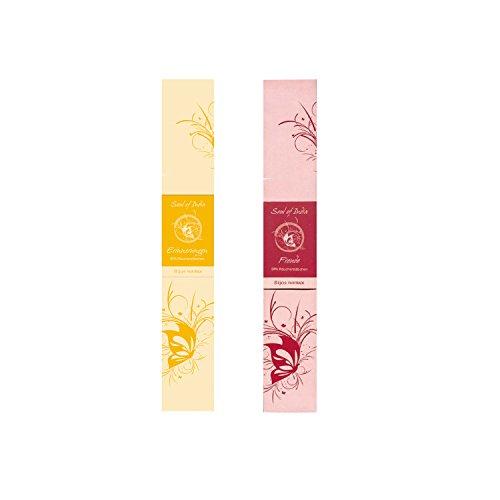Batônnets d'encens Indiens 2ème Set Spa - Soul of India Fair Trade: Souvenirs et Joie, Chaque Paquet Contient 10 Bâtonnets