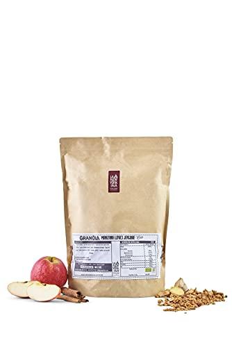 Granola Bio con Manzana y Jengibre - 1,5 Kilos - Horneada con Aceite de Oliva Virgen Extra - Alto Contenido en Fibra - Contiene Copos de Avena Integrales - Proceso 100% Artesano - La Newyorkina