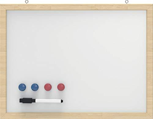 Whiteboard met houten frame, 30x40 cm, kleur: wit