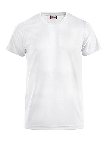 Herren Funktions T-Shirt aus Polyester von CLIQUE. Das T-Shirt für den Sport, perforiert und feuchtigkeitsabführend in Weiss, Grösse L